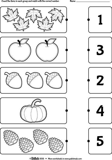 Count_and_match_autumn_eng.png (1154×1637) | Kindergarten
