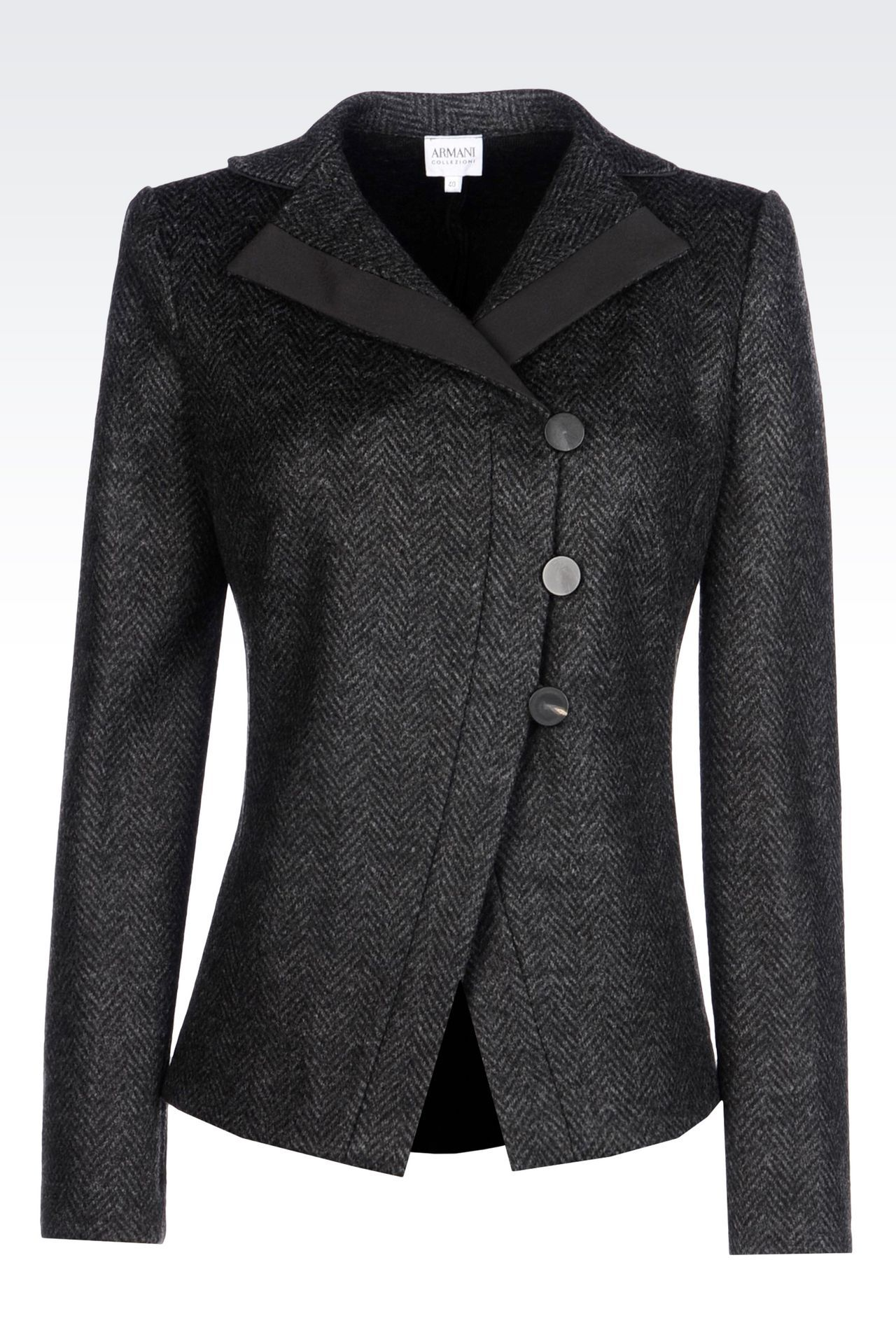 5a30643c JACKET IN CHEVRON DESIGN JACQUARD WOOL BLEND: Dinner jackets ...