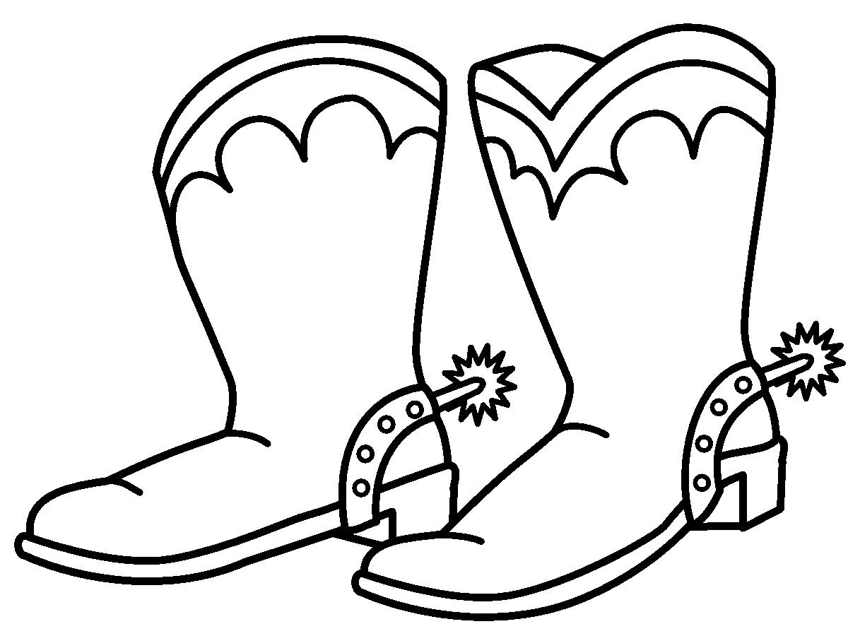 Coloring For Kids Cowboy Boot Coloring Page Pictures with B and Kids ...