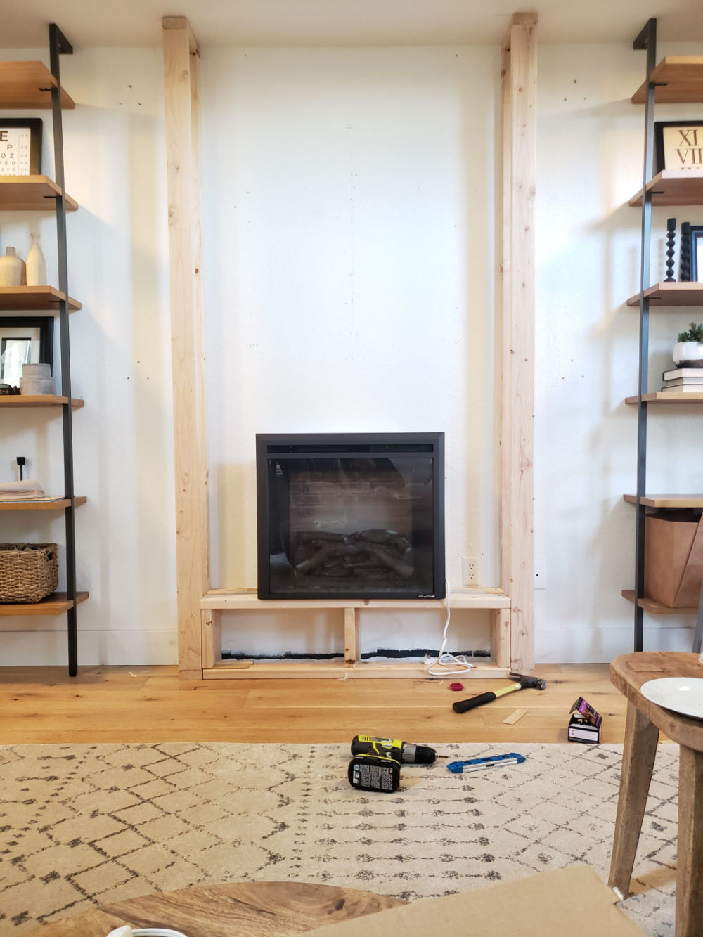 DIY Electric Fireplace HowTo Tutorial Kismet House in