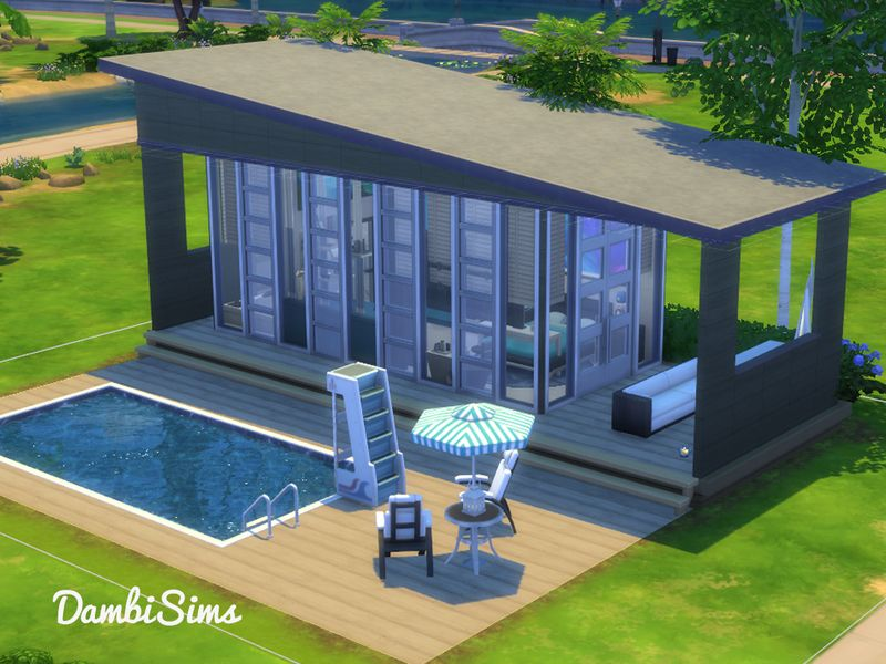 This Build Is A Small Luxury Villa With A Swimming Pool Found In Tsr Category Sims 4 Residential Lots Sims House Sims House Plans Sims 4 House Plans