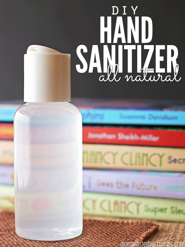 Diy All Natural Homemade Hand Sanitizer Natural Hand Sanitizer