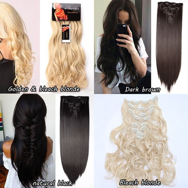 Wish Real Thick Synthetic Hair Extensions 17 30inch 34 Full Head