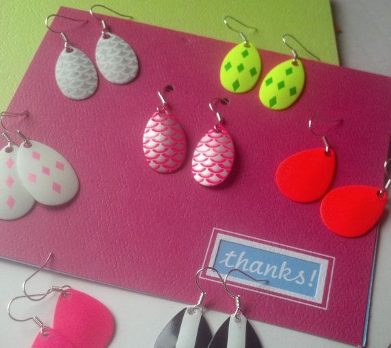 Handmade Neon Earrings Free with Every by ChaseMeNails on Etsy, $10.00