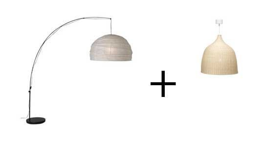 Good Questions Arched Lamp With Rattan Shade Ikea