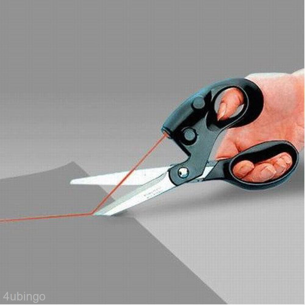 £4.46 GBP - Multi-Functional Red Beam Guided Cut Straight Easy Fast Fabric Paper Scissors #ebay #Home & Garden