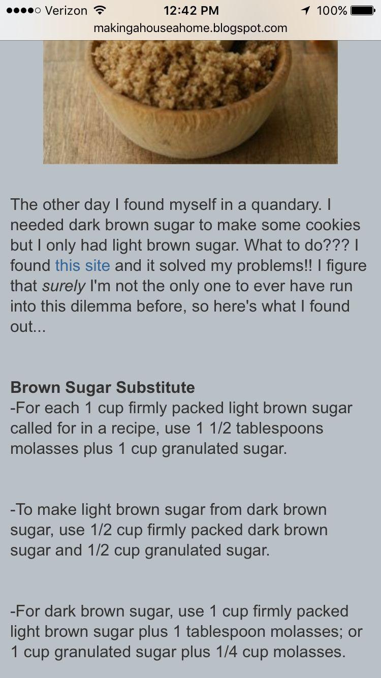 Brown Sugar Substitute Tips With Images Brown Sugar Sugar