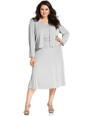 how would silver look? Jessica Howard Plus Size Dress and ...