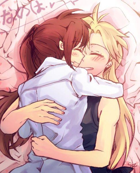 Anime Lesbian Anime Love How Cute