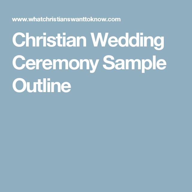 Christian Wedding Ceremony Sample Outline   Wedding services ...