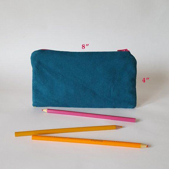 459abc5852cf Small Zipper Pouch Floral Makeup Bag. Soft Pencil Case or Artist Pencil Case.  Small Make Up Bag or M