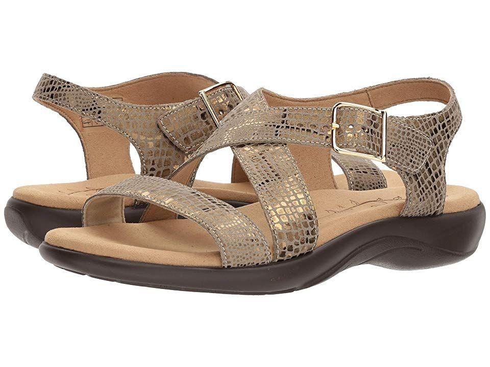 SAS Laguna Women's Sandals Olive Gold Womens gold