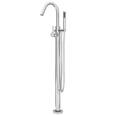Pfister Modern Single Handle Free Standing Tub Filler In Polished
