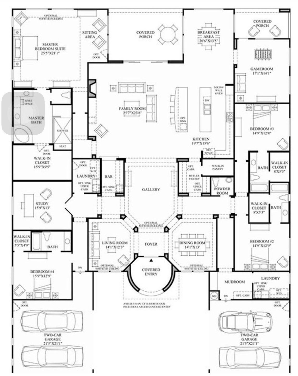Floor Plan For A Mansion In The Sims 4 Bedroom House Plans Ranch House Plans House Blueprints