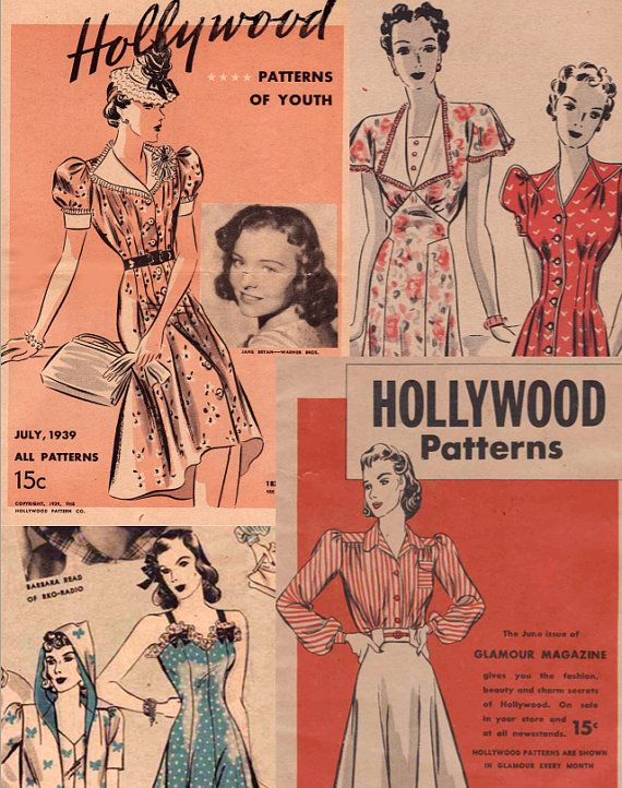 Vintage Pattern Catalog 2 Hollywood Pattern Booklets In One Pdf July 1939 June 1940 Instant Download With Images Vintage Pattern Retro Fashion Vintage Vintage Outfits