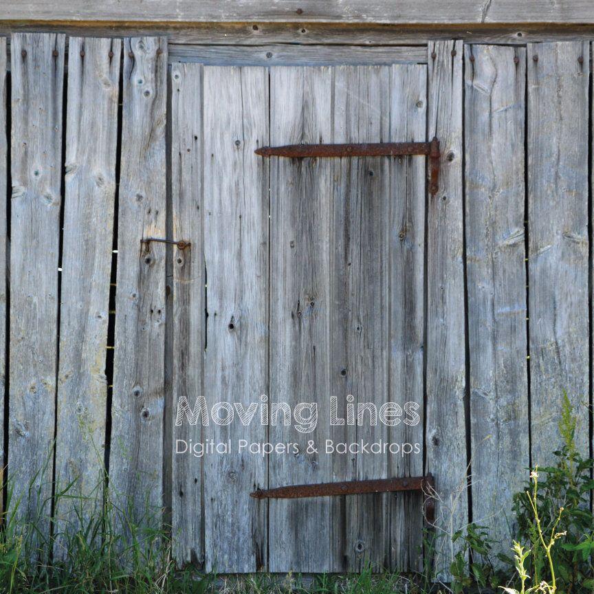 Barn Door Photography Backdrop Rusty Lock Weathered Wood
