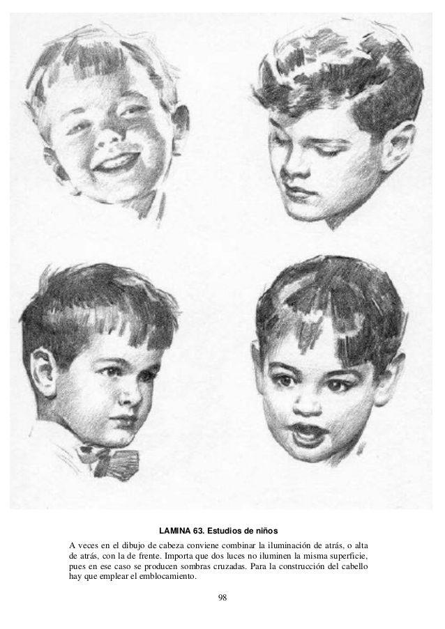 Andrew Loomis Dibujo De Cabeza Y Manos Espanol Drawing People Portrait Sketches Andrew Loomis