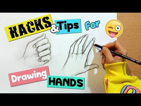 Hacks Tips For Drawing Hands Artist Life Hacks Youtube