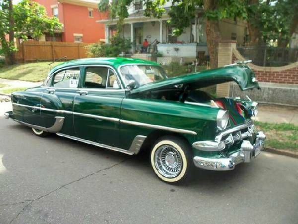 Candy green 1954 chevy 210 4 door motorized vehicles for 1954 belair 4 door