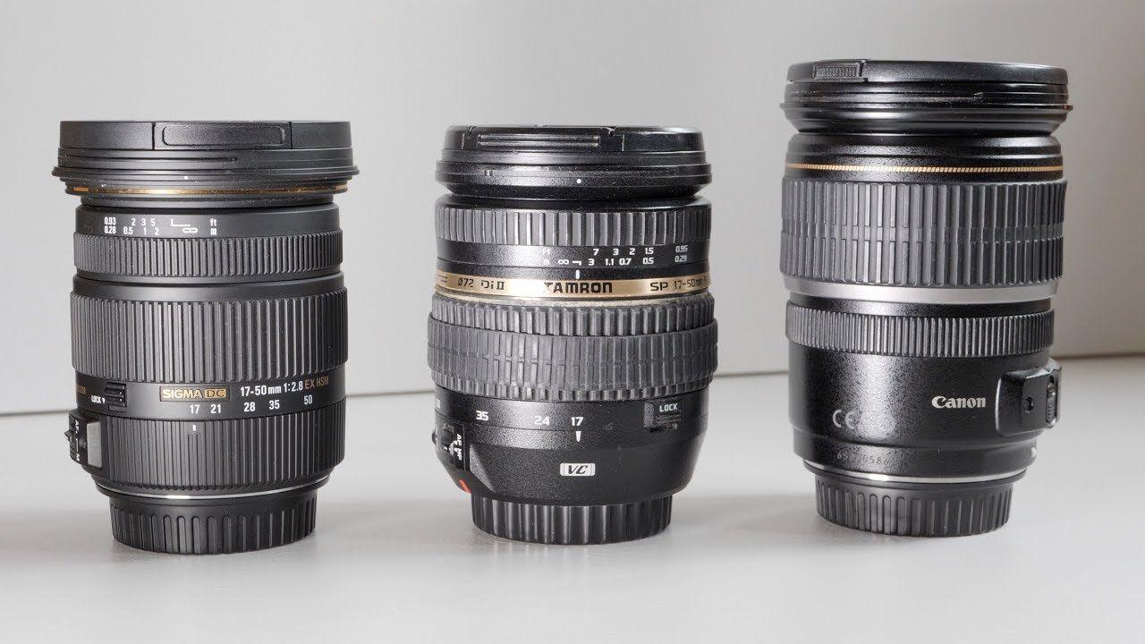 Canon 17 55mm Vs Sigma 17 50mm Vs Tamron 17 50mm F 2 8 Videography Videography Tamron Sigma