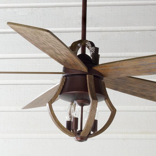 "56"" Indoor Rustic Wine Barrel Stave Ceiling Fan in 2020"