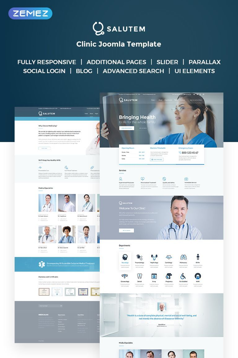 Salutem Medical and Healthcare Clean Joomla Template