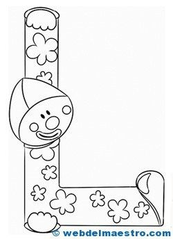 Letras para colorear | 01Coloring ABC | Alphabet, Carnival, Lettering