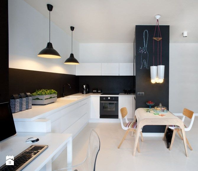 Zdjecie Kuchnia Styl Eklektyczny Kitchen Dining Room Kitchen Room Design