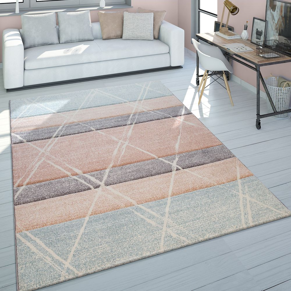 Skandi Teppich Wohnzimmer Rauten Design Teppich Shaggy Teppich Teppich Wohnzimmer