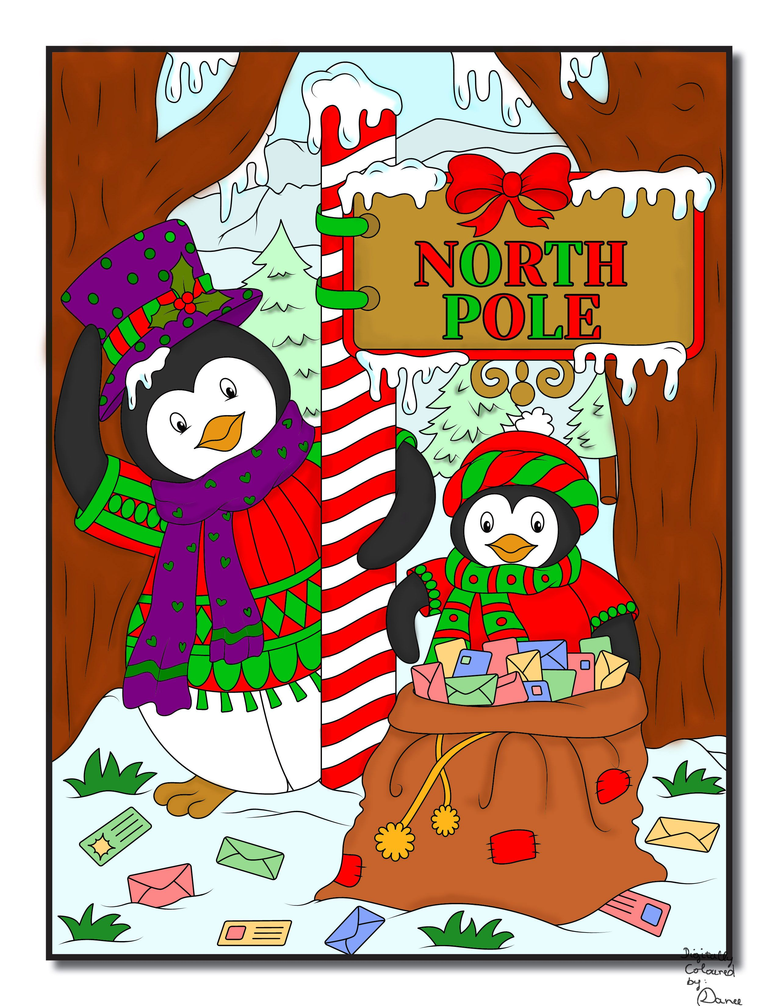 jade summer christmas coloring book digital colouring