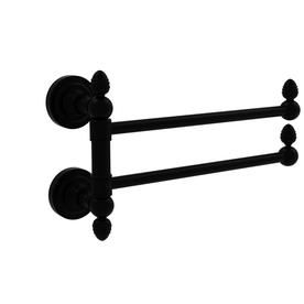 Allied Brass Dottingham Collection 2 Swing Arm Towel Rail In Matte Black Dt Gtb 2 Bkm Allied Brass Towel Bar Towel Rail