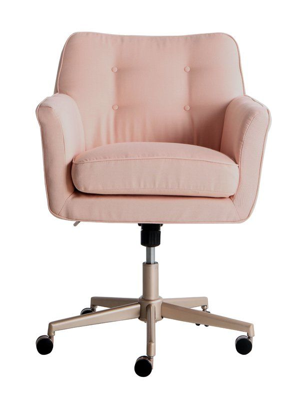 Serta Ashland Task Chair Desk Chair Comfy Pink Office Chair Cute Desk Chair