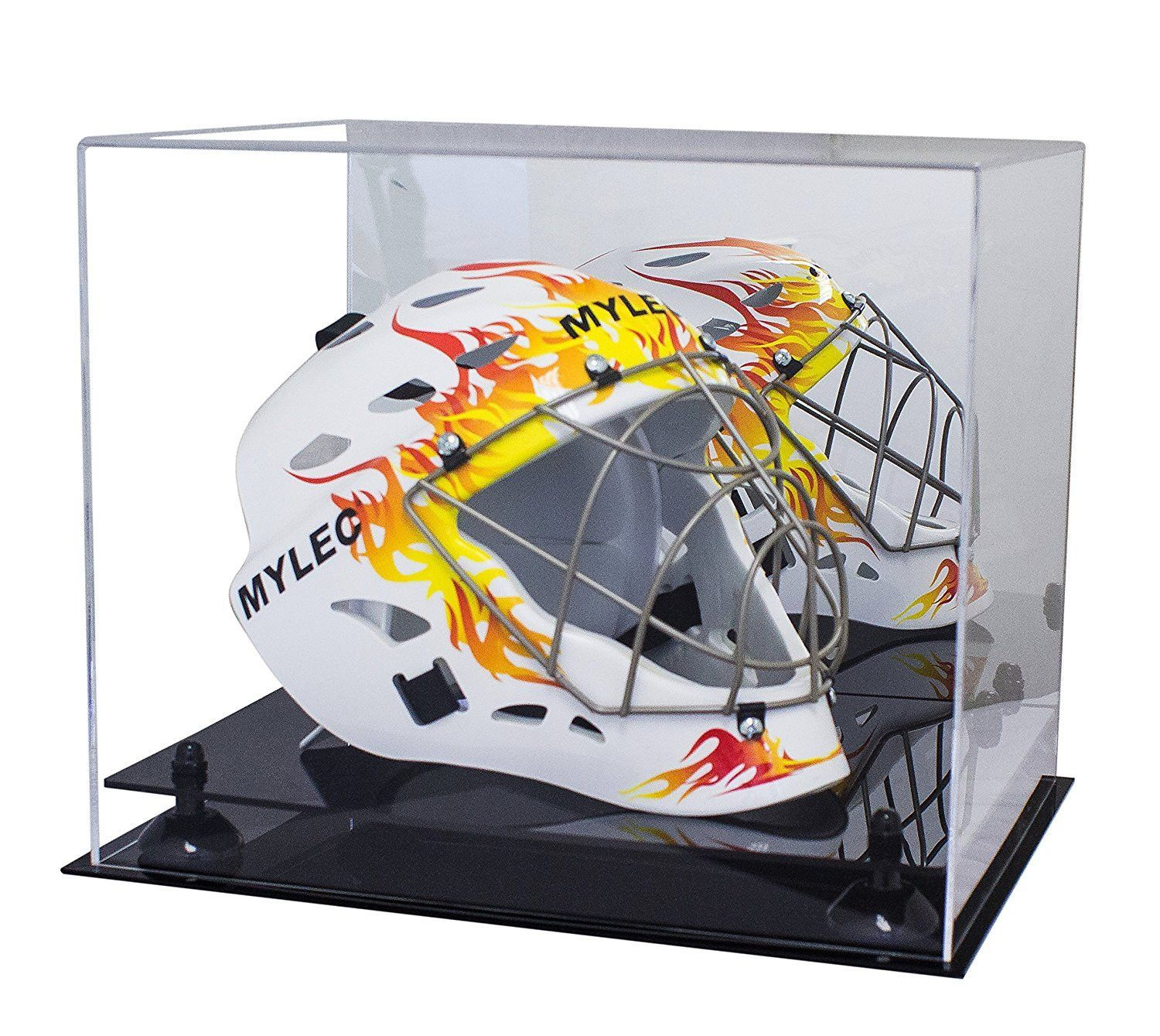 Lacrosse Helmet Full Size Display Case With Mirror MLL