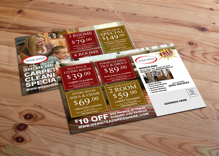 Carpet Cleaning Direct Mailer Design Front and Back. It's time to ...