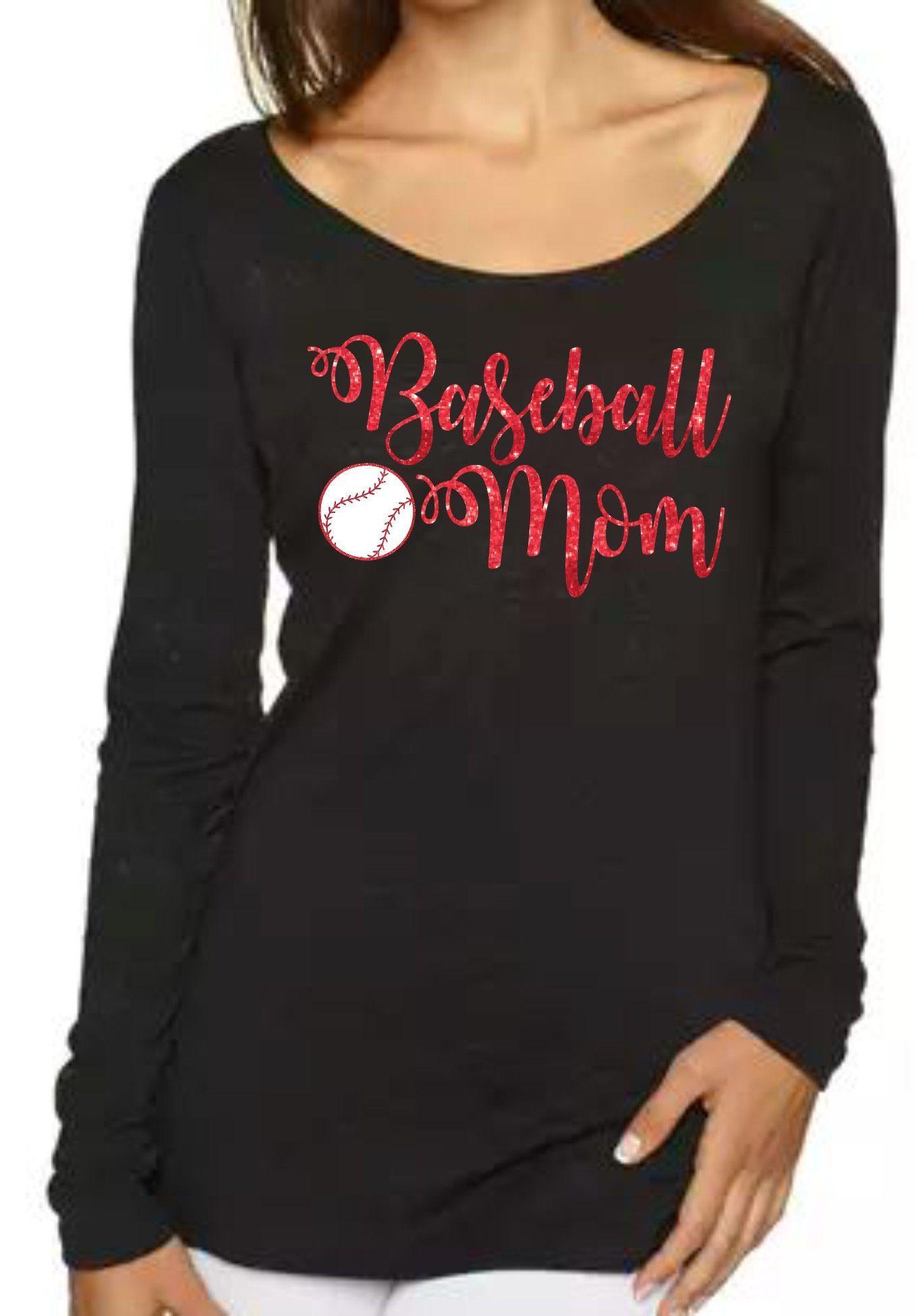 fe7a80ac Baseball Mom Long Sleeve. Baseball Mom Long Sleeve Softball Mom Shirts ...
