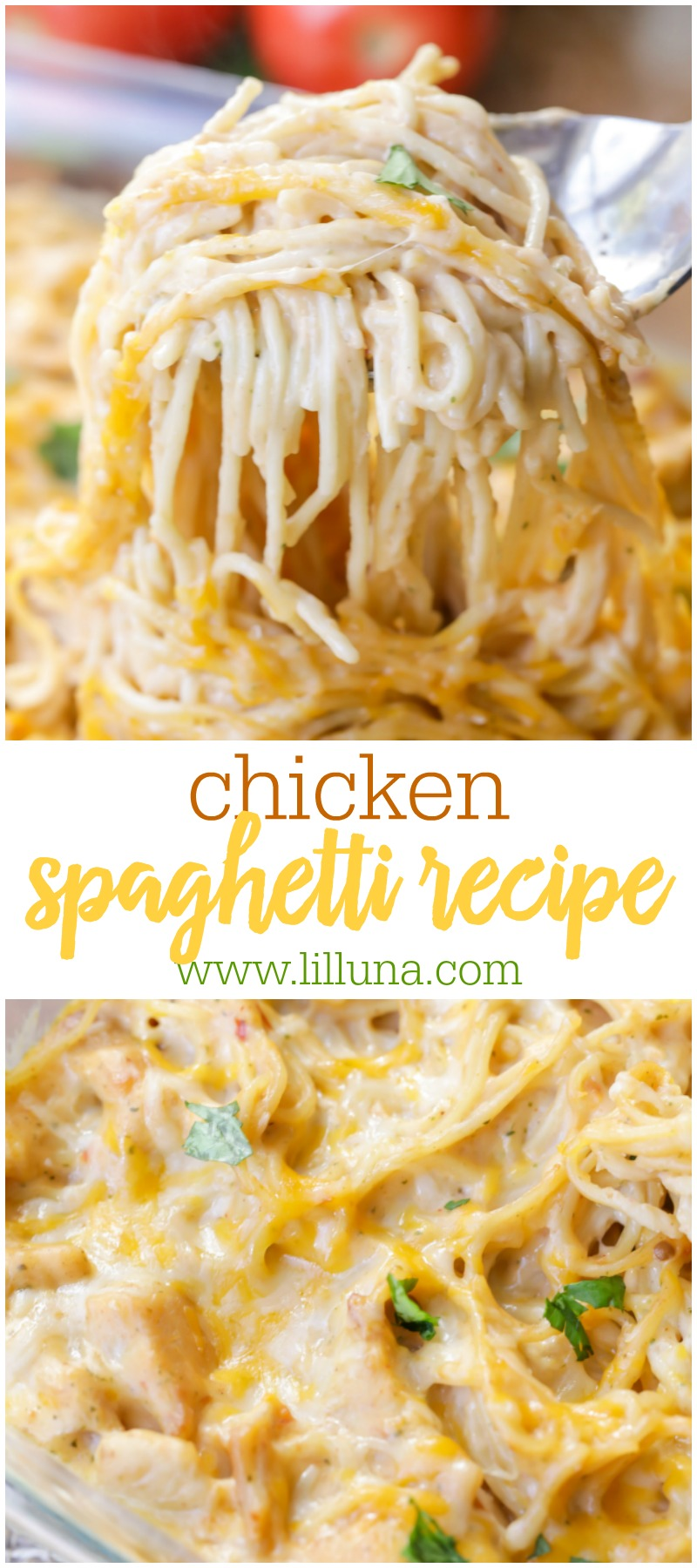 Photo of Family-Favorite Chicken Spaghetti Recipe (+VIDEO) | Lil' Luna