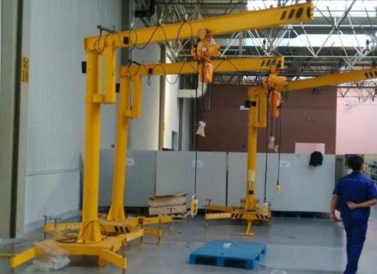Portable Jib Crane From Ellsen Used For Material Handling Http Ellsenjibcranes Com Portable Jib Crane Crane Cranes For Sale Portable