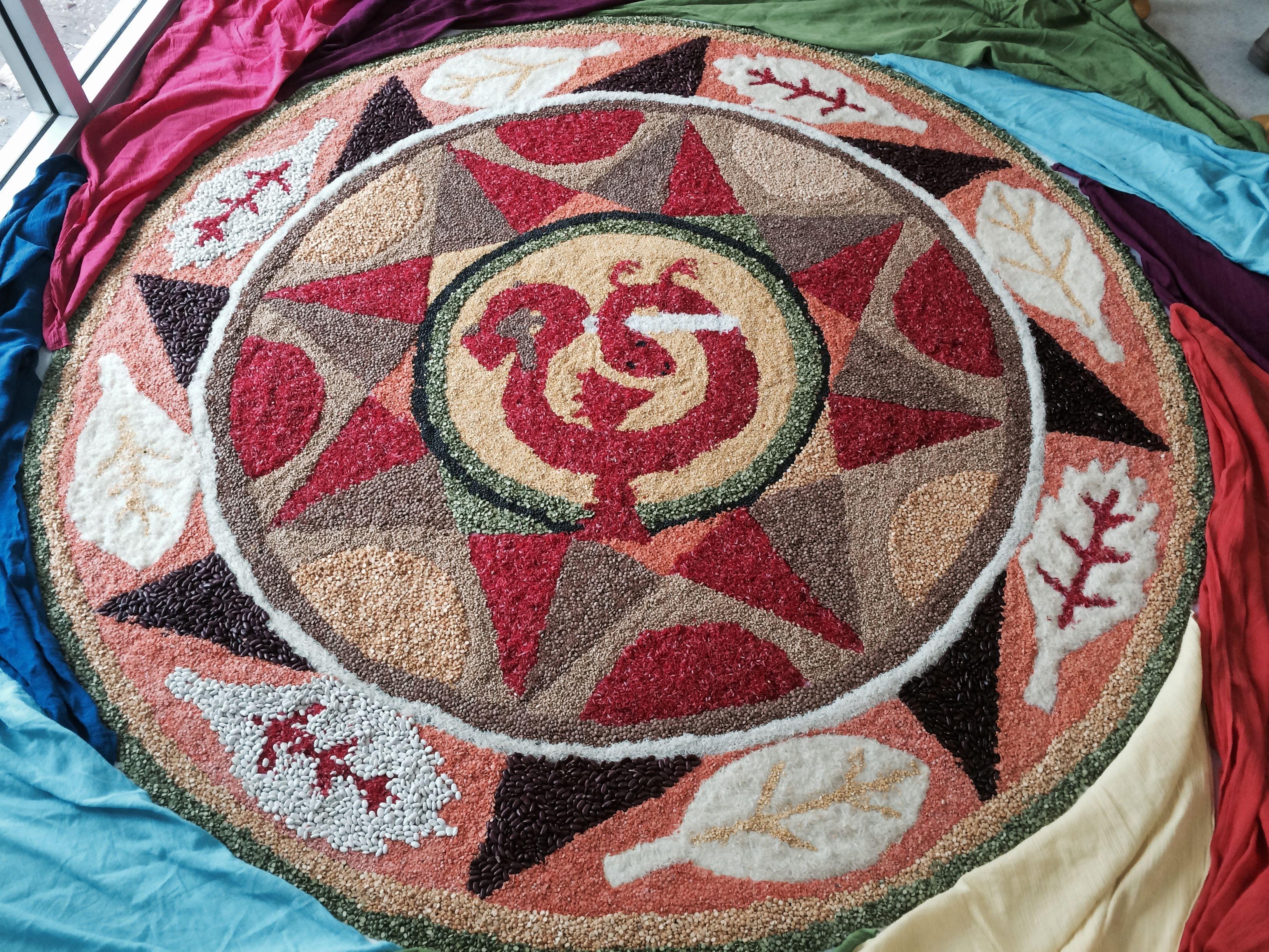 Mandala Made With Grains