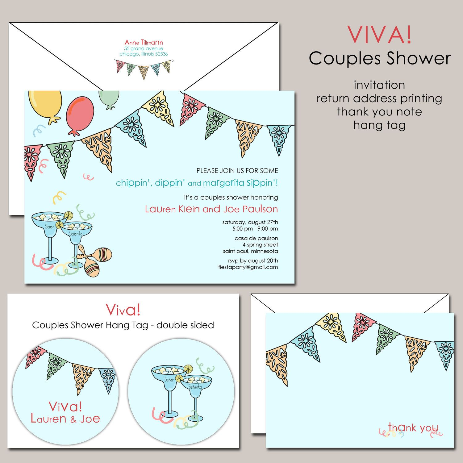 Viva Fiesta Mexican Theme Couples Shower By