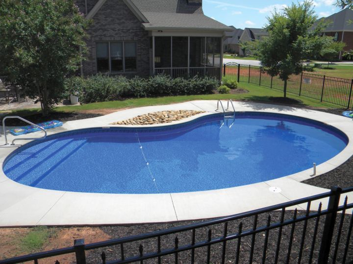 Get Inspired With This Amazing Photo Of Above Ground Kidney Shape Pool You Can T Be Wrong W Pools Backyard Inground Kidney Shaped Pool Swimming Pools Backyard