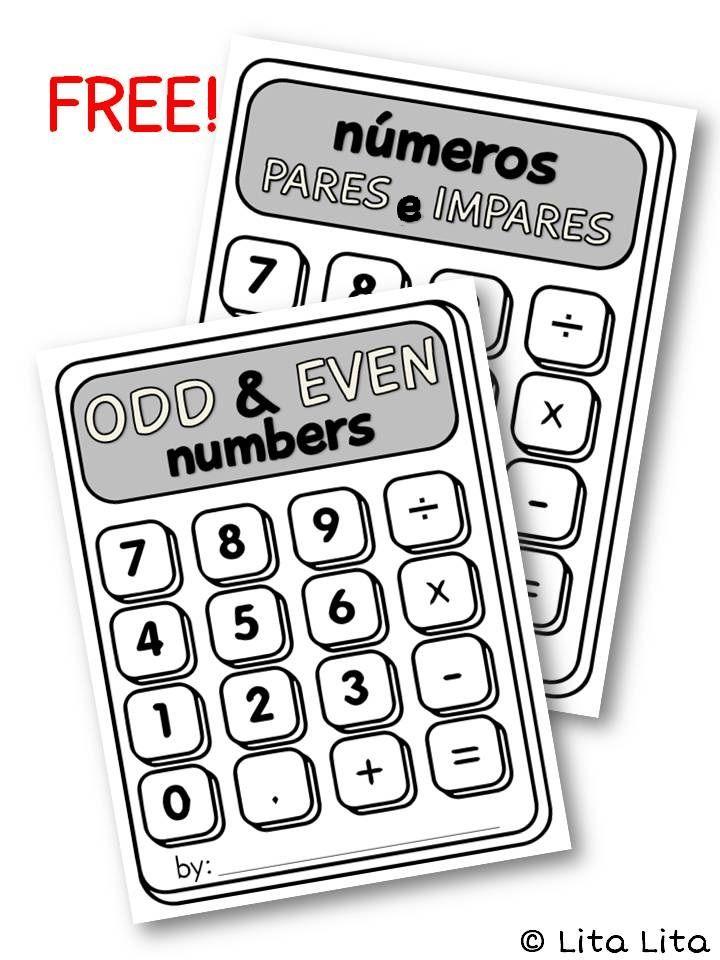 FREE Odd & Even calculator craftivity   Math journals ...