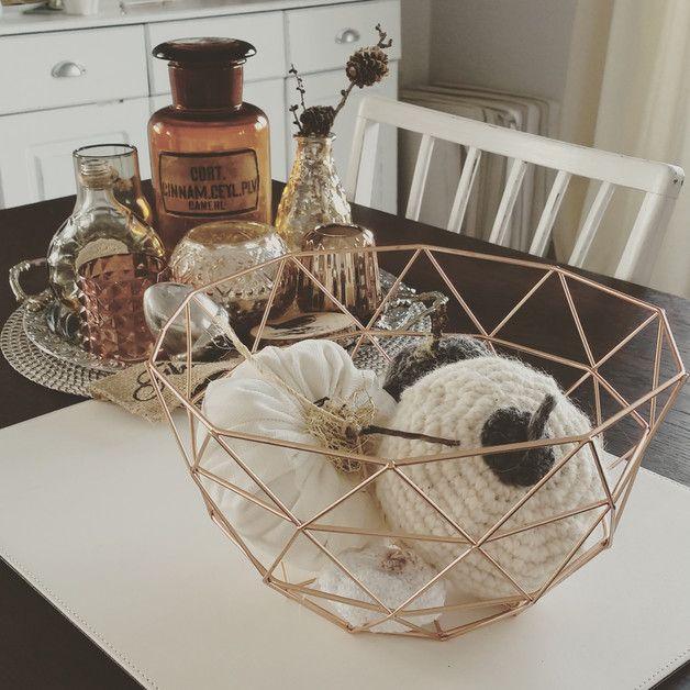 k rbe drahtkorb kupfer geometrie 26 cm ein. Black Bedroom Furniture Sets. Home Design Ideas