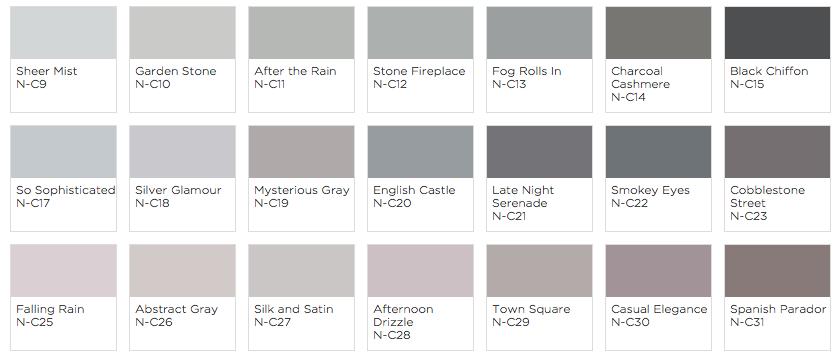 Grey pain from clark kensington with blogger style wax - Clark and kensington exterior paint ...