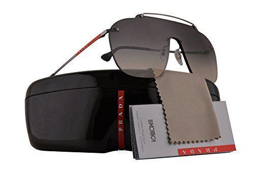 d014676f6c B07B19H656 Prada PS51TS Sunglasses Dark Grey w Grey Gradient Lens 37mm  5AV130 SPS51T PS 51TS