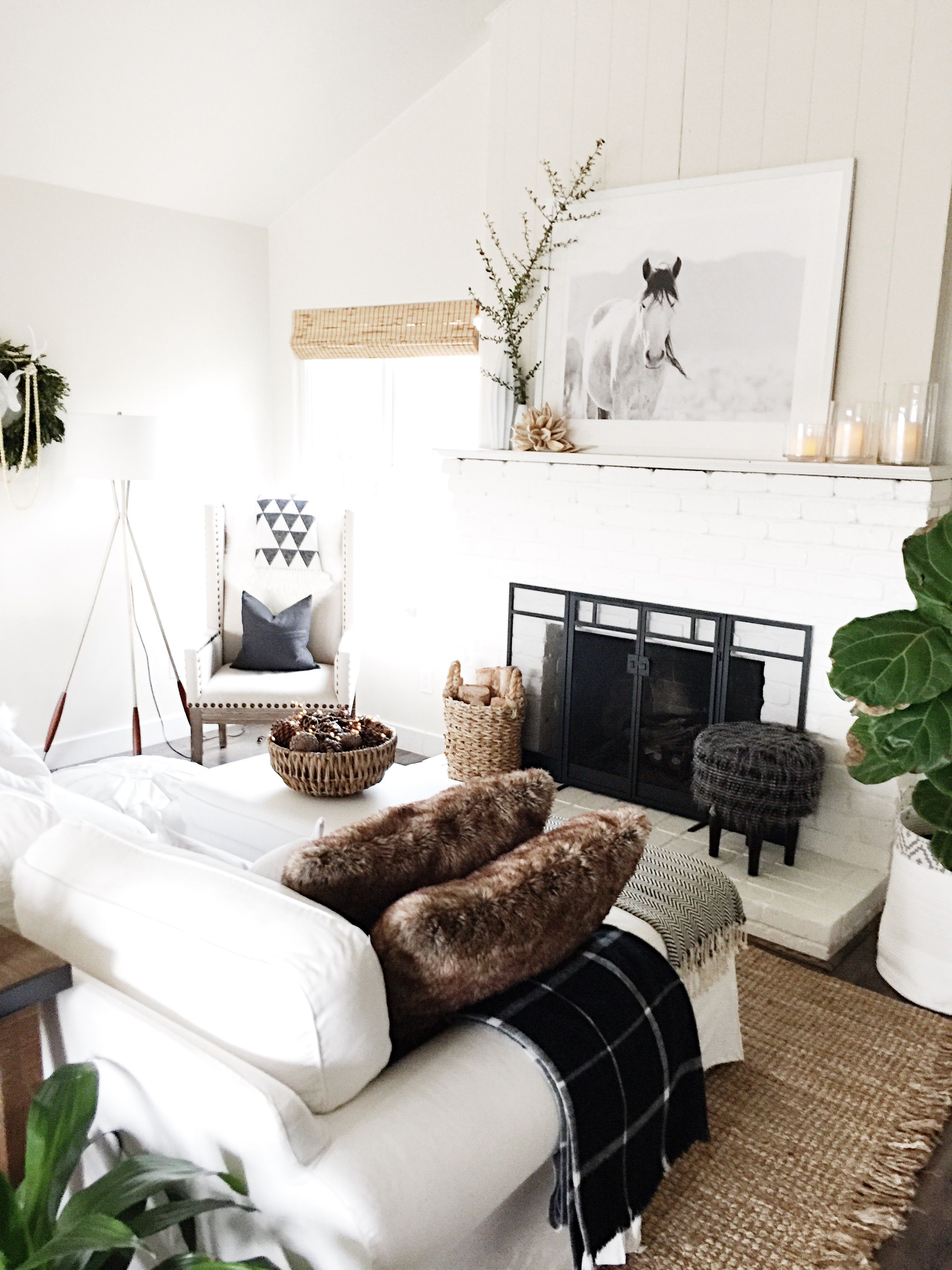 January Living Room Refresh Bright White Love Home Decor Room