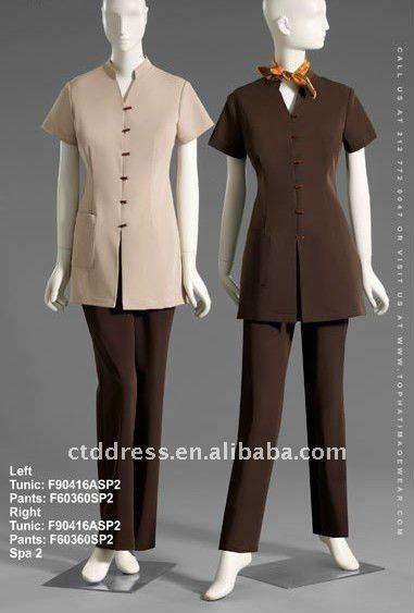 New style Wool SPA uniform spa dress by CTD $76~$95
