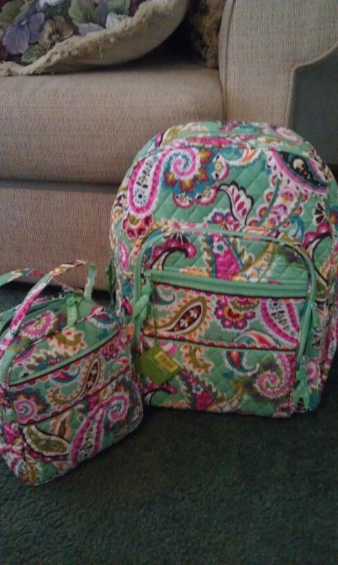 Vera Bradley Bookbag And Lunchbox