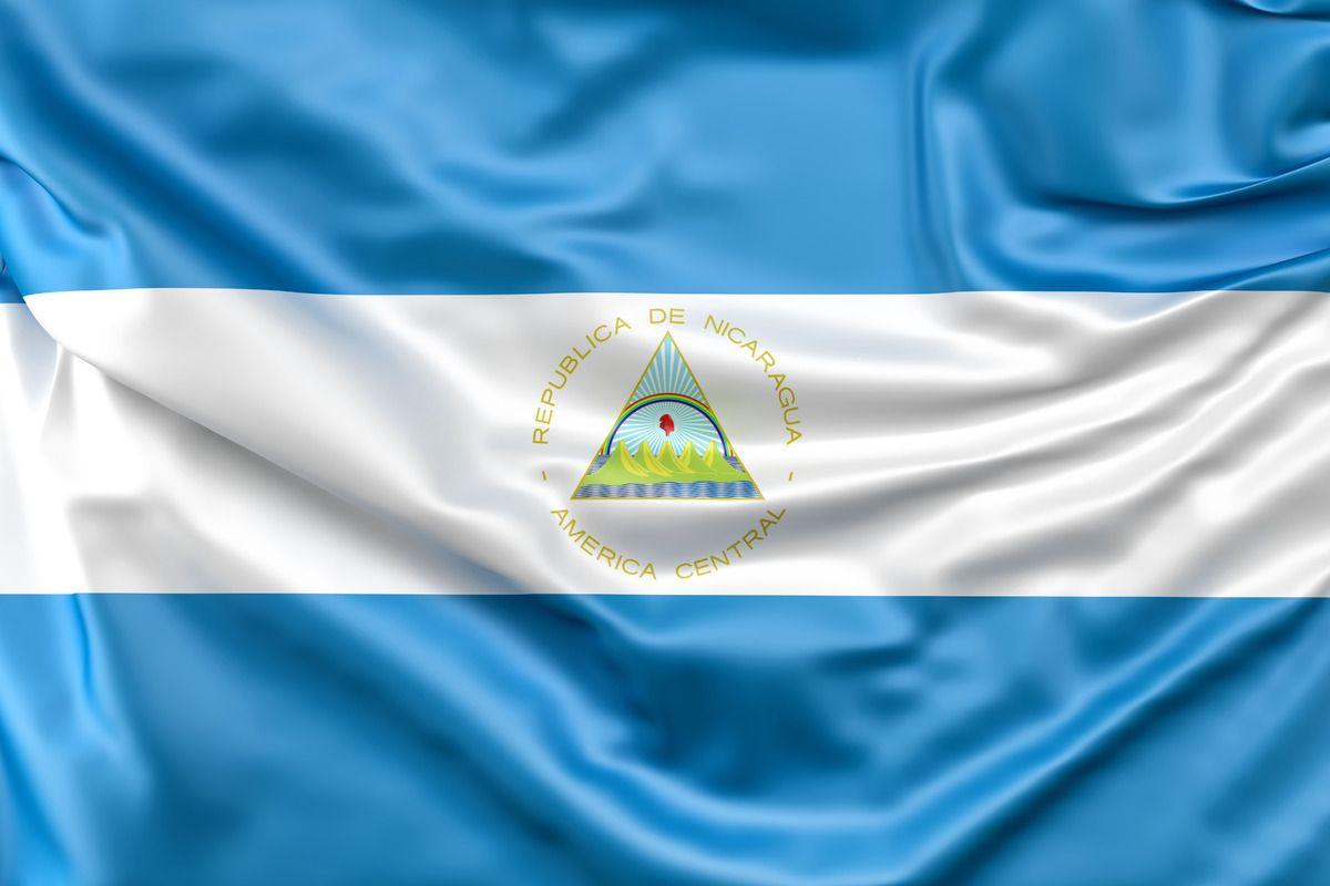 Flag Of Nicaragua Fotos Azul