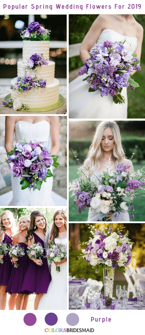 8 Popular Spring Wedding Flowers Color Ideas for 2019