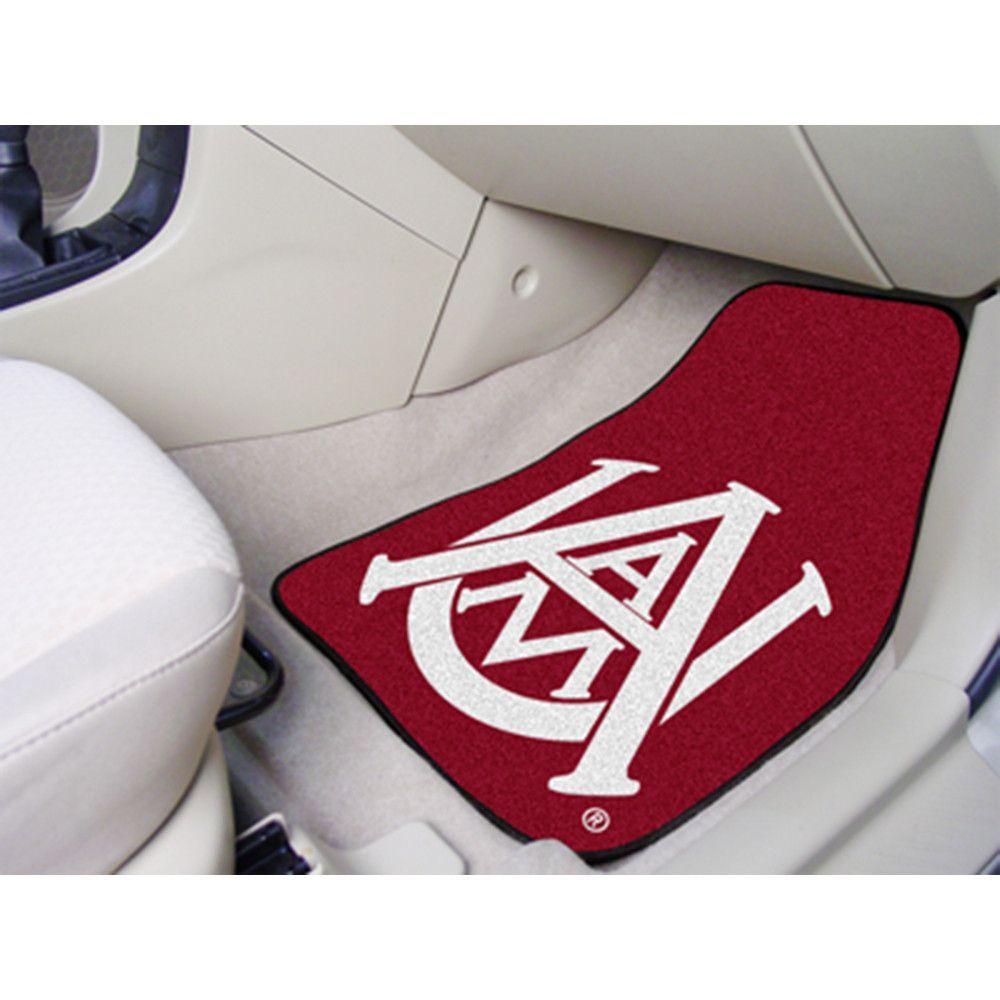 Alabama A&M Bulldogs NCAA 2-Piece Printed Carpet Car Mats (18x27)